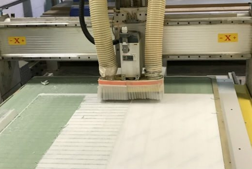 cutting materials at DisplayMode for POS