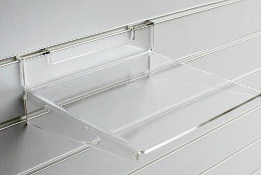 Large acrylic slatwall shelf