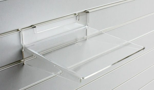 Large acrylic slatwall shelf