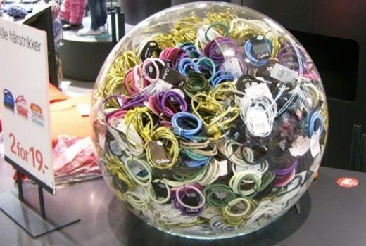 hair band ball display