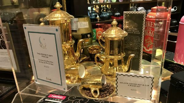 golden non drip coffee pot