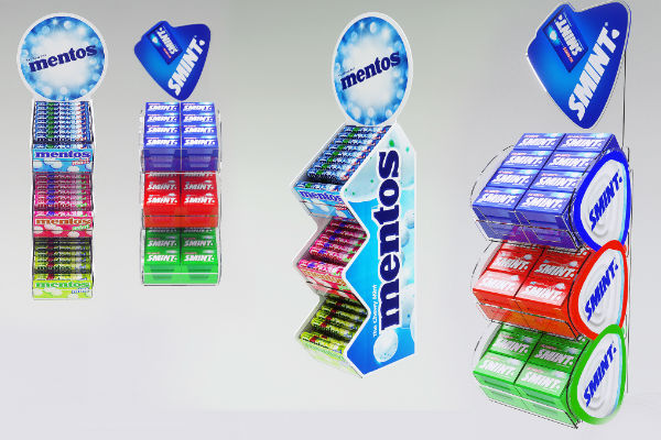 mentos point of sale display