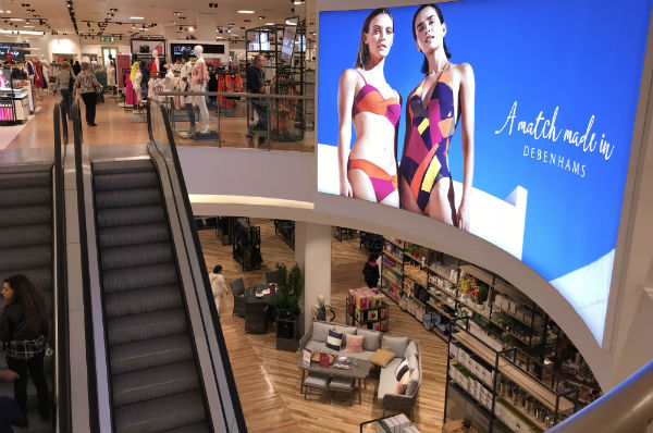 store view of two shopping floors