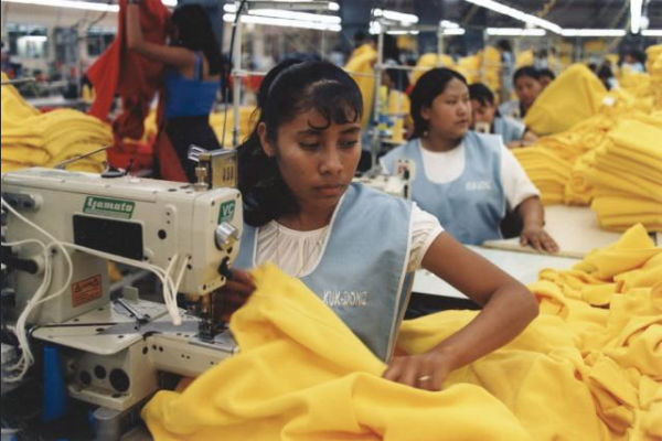 An image from the sweatshop project documenting sweatshops from around the world