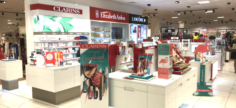 department store cosmetics area