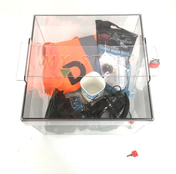 Lock box to keep PPE safe at work